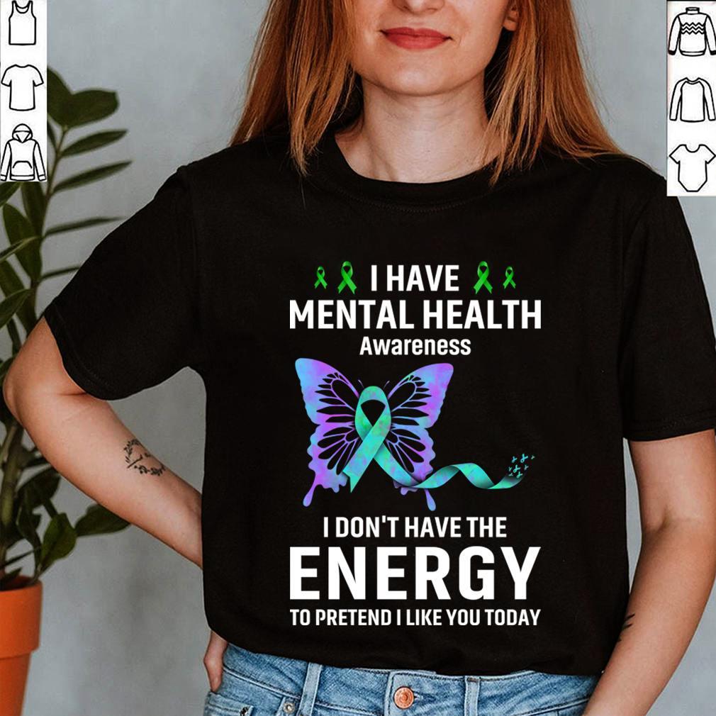 Best Mental Health Matter Survivor Birthday Shirt Butterfly Ribbon Awareness T-Shirt 12