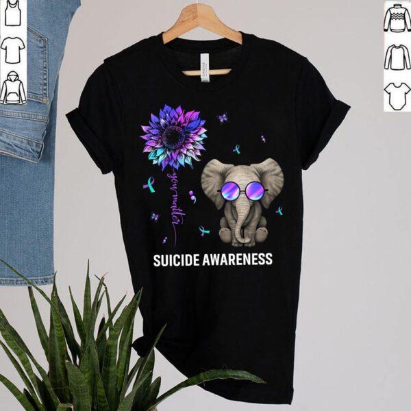 Best Suicide Prevention Survivor Shirt You Matter Sunflower Elephant Awareness T Shirt 2