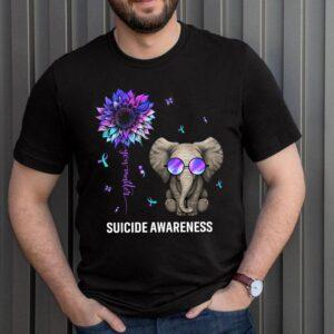 Best Suicide Prevention Survivor Shirt You Matter Sunflower Elephant Awareness T Shirt 3