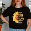 Cool Faith God Christ Warrior Birthday Shirt Hippie Sunflower Religion Prayer T Shirt