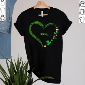 Cute Lucky St Patricks Day Heart Shirt Irish Shamrock Pot Of Gold Holiday T Shirt 2