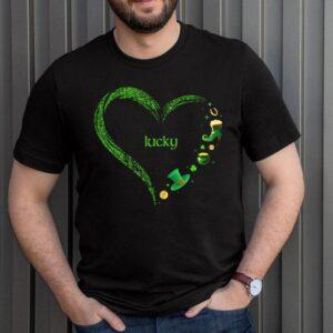 Cute Lucky St Patricks Day Heart Shirt Irish Shamrock Pot Of Gold Holiday T Shirt 3