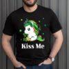 Funny Kiss Me Irish St Patricks Day Shirt Unicorn Lovers Clover Lucky Shamrock T-Shirt 3