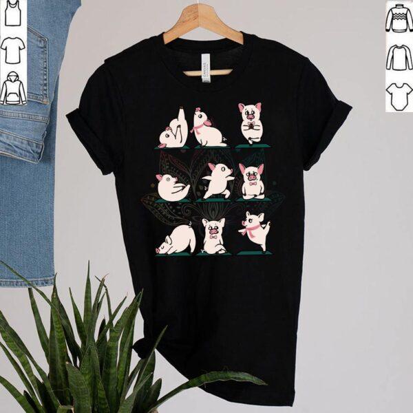 Funny Yoga Pig Lovers Birthday Shirt Farm Animals Pigs Namaste Peace Mandala T Shirt