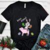 Oeufs de Paques Joyeux Paques cochon et lapin T shirt