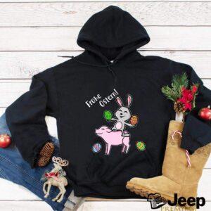 Oeufs de Pâques Joyeux Pâques cochon et lapin T-shirt 8
