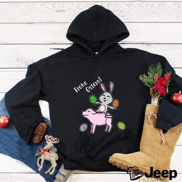 Oeufs de Pâques Joyeux Pâques cochon et lapin T-shirt 6