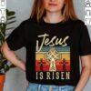 Vintage Jesus Is Risen Faithcross Christian T-Shirt