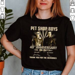 Pet Shop Boys 40th Anniversary 1981 2021 Signatures Thank You For The Memories T shirt 2