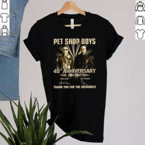 Pet Shop Boys 40th Anniversary 1981 2021 Signatures Thank You For The Memories T shirt 3