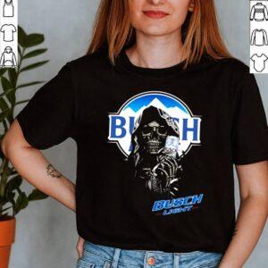 Skull Holding Busch Light Logo Shirt 2