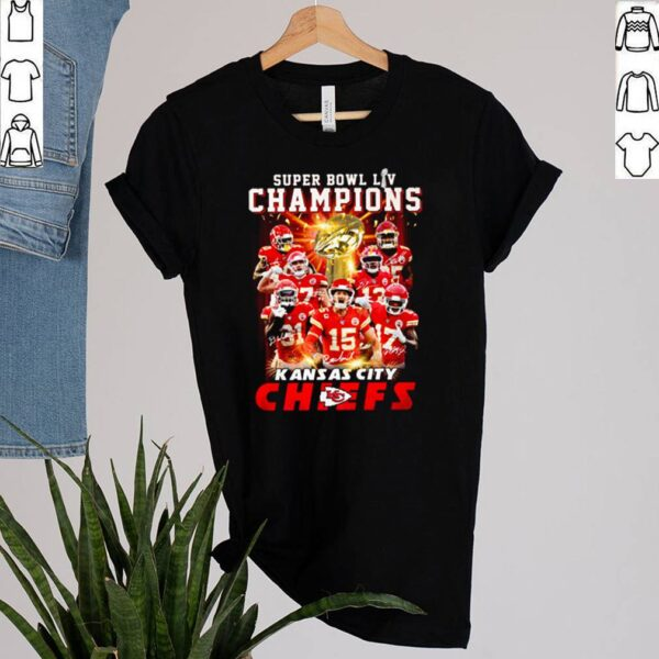 Super bowl LIV champions Kansas City Chiefs signature shirt