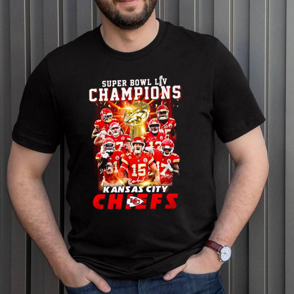 Super bowl LIV champions Kansas City Chiefs signature shirt 7