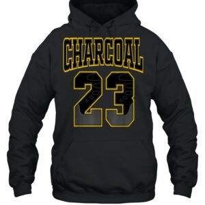 23 made to match 9 University gold retro shirt