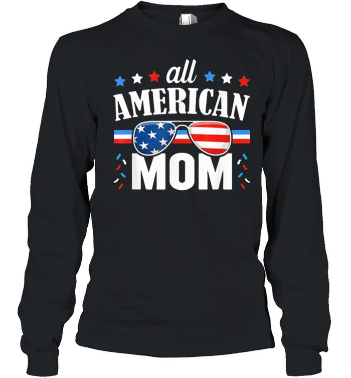 All American mom 4th of july usa family matching shirt 5
