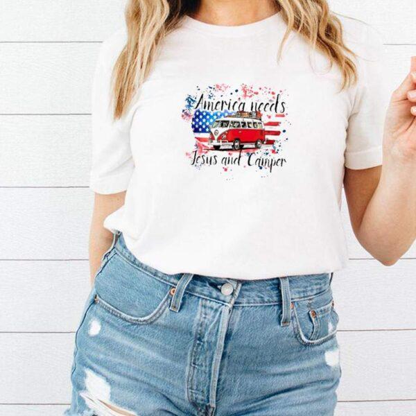 America needs Jesus and camper shirt 3