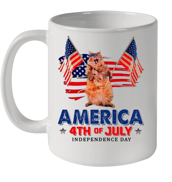 American Flag Cat America 4th Of July Independence Day 2021 shirt 5