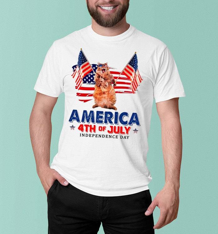 American Flag Cat America 4th Of July Independence Day 2021 shirt 6
