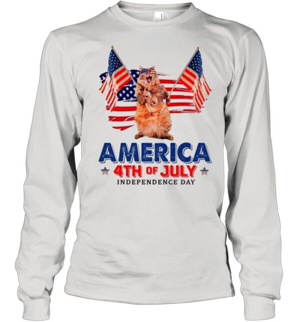 American Flag Cat America 4th Of July Independence Day 2021 shirt