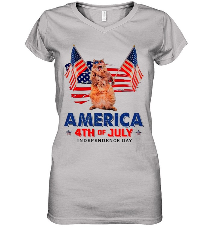 American Flag Cat America 4th Of July Independence Day 2021 shirt 8