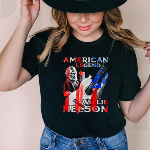 American Legend Willie Nelson Flag Shirt