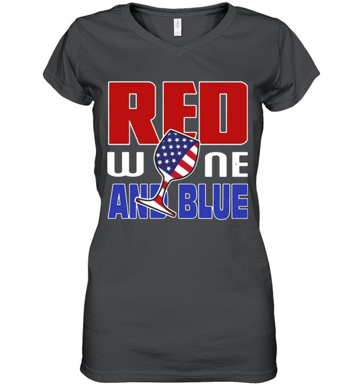 American red wine and blue shirt 11