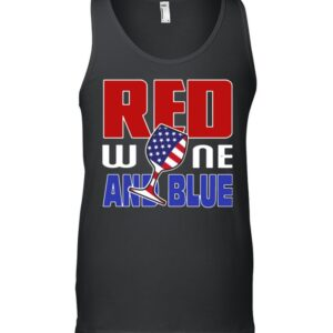 American red wine and blue shirt 9