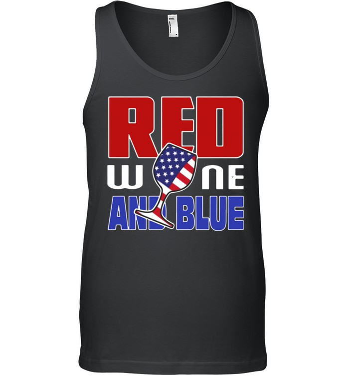 American red wine and blue shirt 17