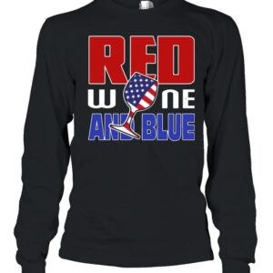 American red wine and blue shirt 7