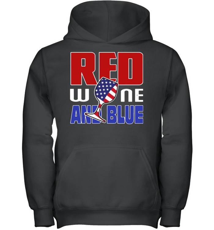 American red wine and blue shirt 13