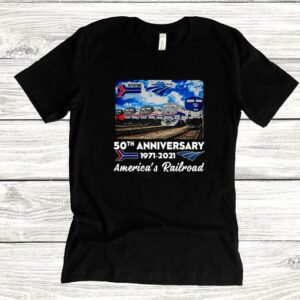 Amtrak 50th Anniversary 1971 2021 Americas Railroad Shirt