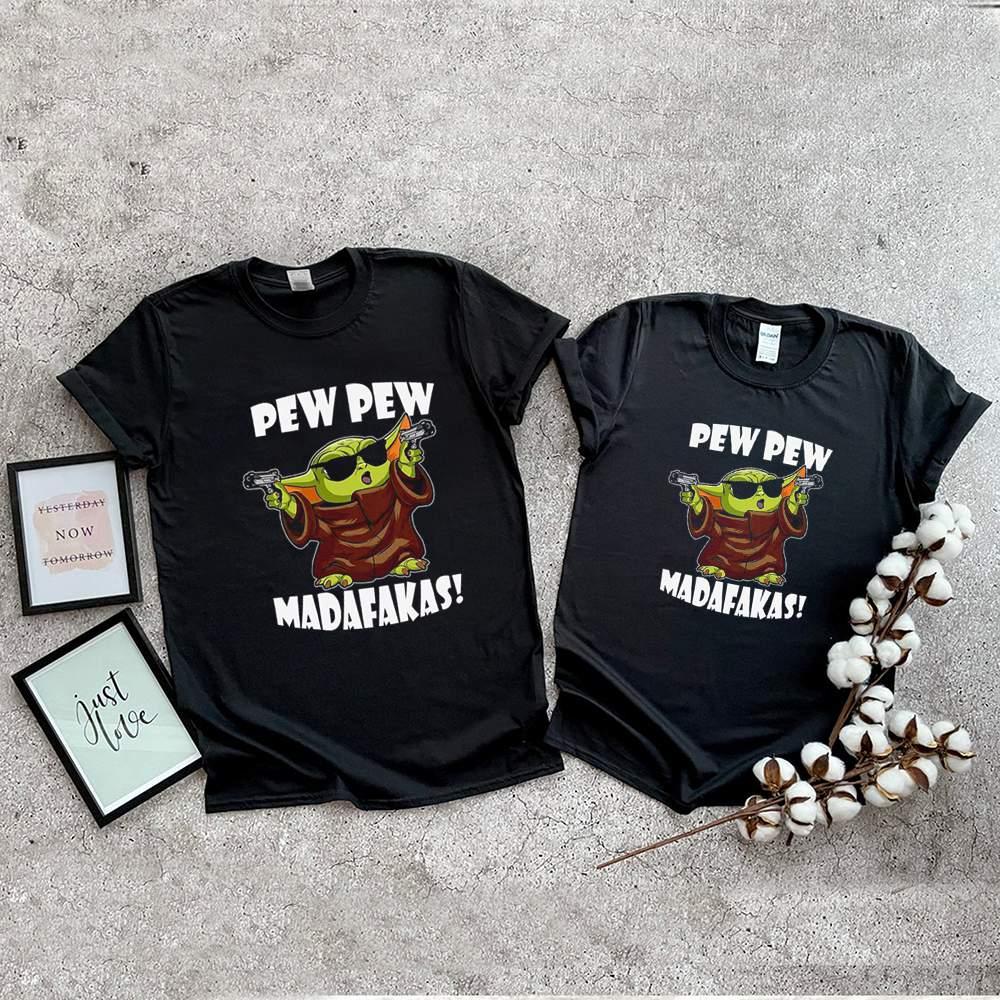 Baby Yoda pew pew madafakas shirt 9