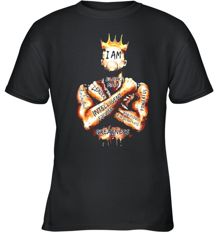 Black King i am black man leader intelligent focus shirt 5