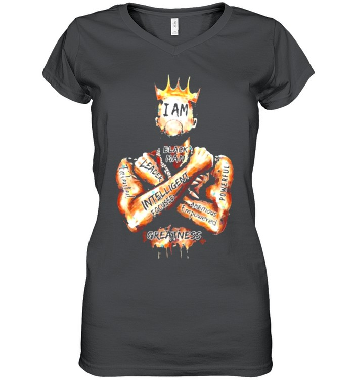 Black King i am black man leader intelligent focus shirt 6