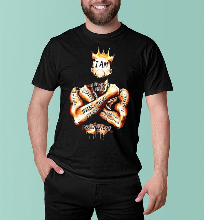 Black King i am black man leader intelligent focus shirt 7