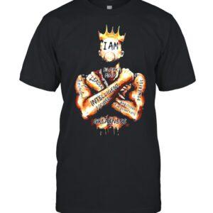 Black King i am black man leader intelligent focus shirt