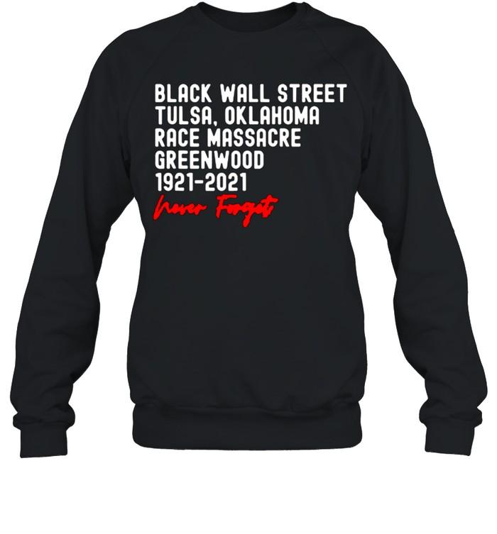 Black Wall Street Tulsa Race Massacre Centennial Greenwood Never Forget T Shirt 12