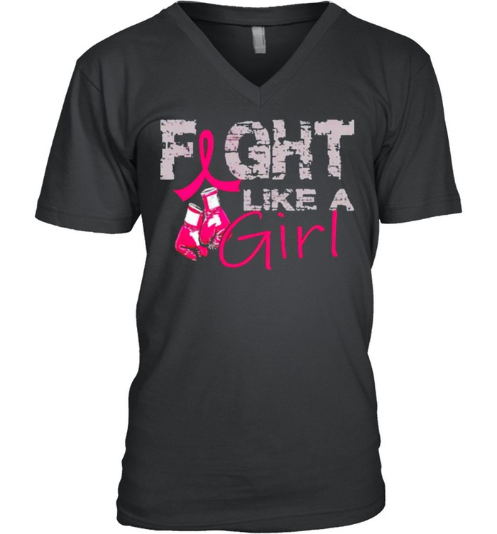 Breast Cancer fight like a girl shirt 10