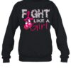 Breast Cancer fight like a girl shirt
