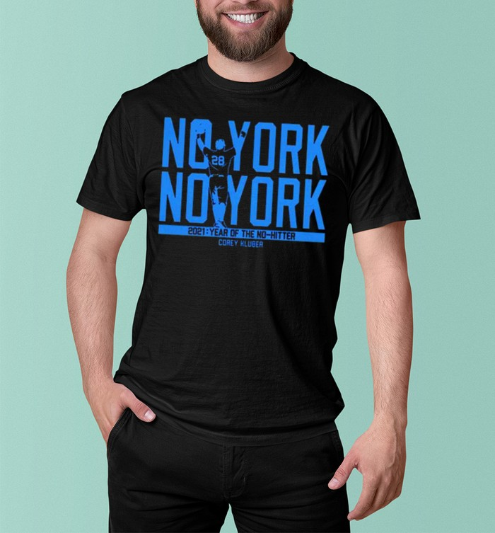 Corey Kluber no york no york 2021 year of the no hitter shirt 7