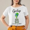 Cyclung breathe the world earth day shirt