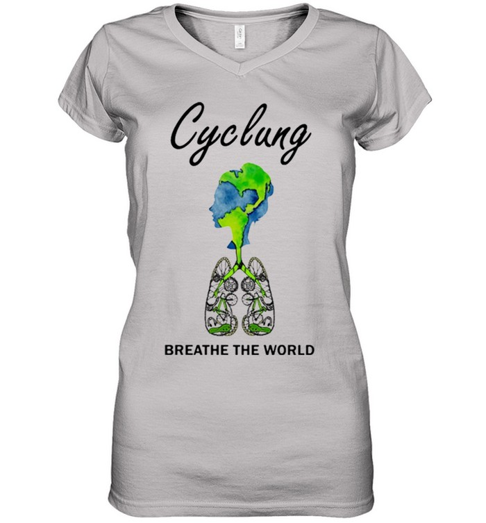 Cyclung breathe the world earth day shirt 10