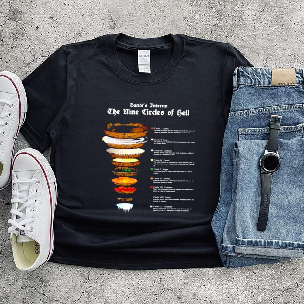 Dante Alighier Inferno Nine Circles Hell Shirt 2