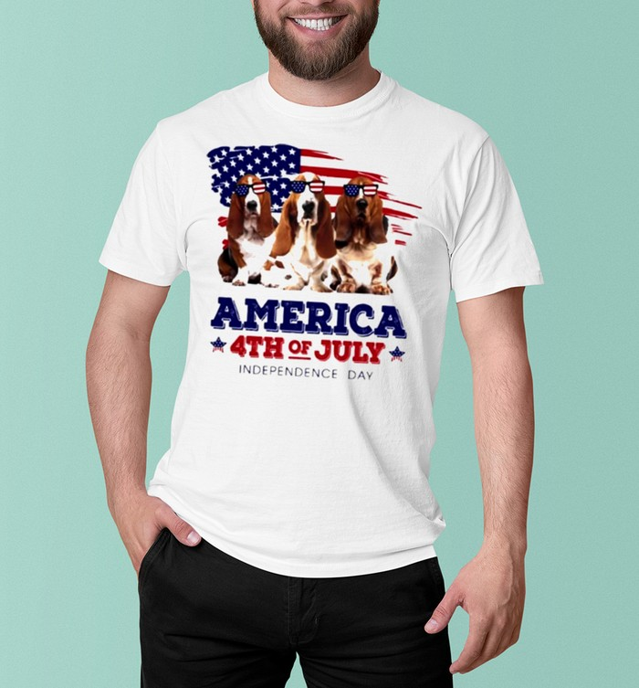 Dog American flag 4th of july independence day shirt 5