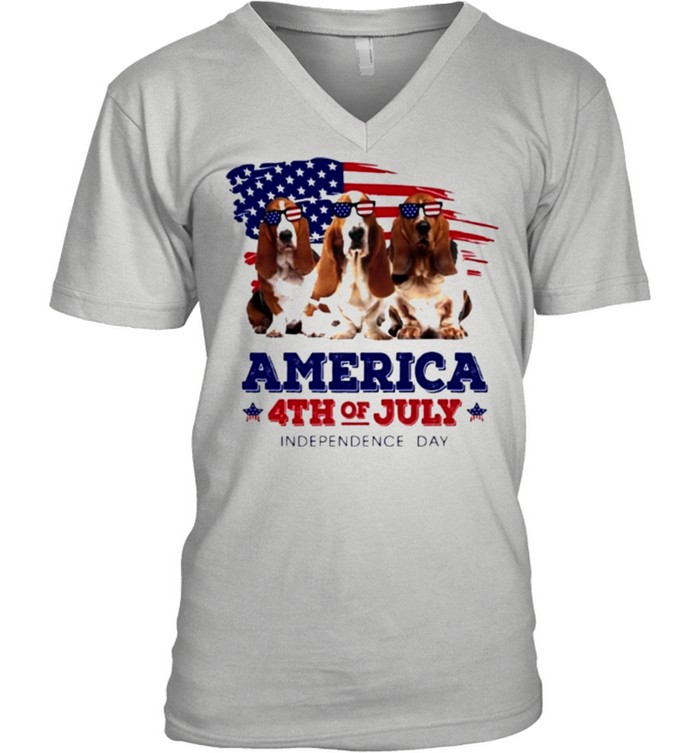Dog American flag 4th of july independence day shirt 7