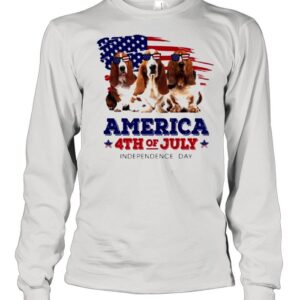Dog American flag 4th of july independence day shirt