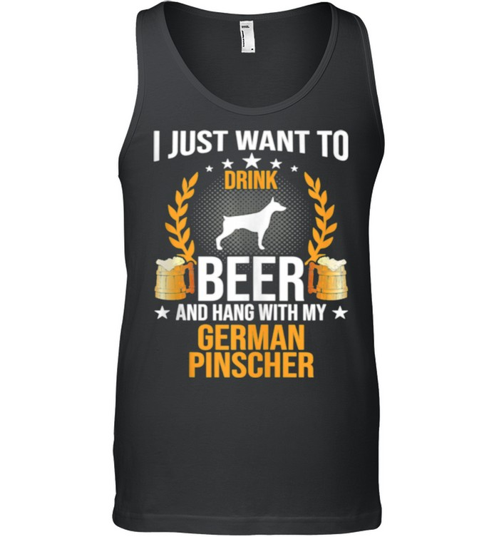 Drink Beer And Hang With My German Pinscher Dog shirt 8
