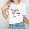 Flamingo adios school hello pool daycare teacher shirt