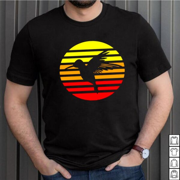 Hummingbird Design Retro And Vintage Style 80S And 70S Vintage T shirt 5