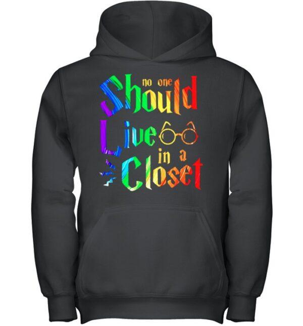 LGBT Harry Potter no one should live in a closet shirt